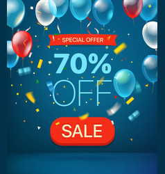special offer concept 70 percent off vector image
