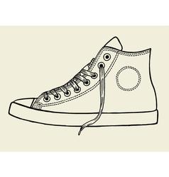 Sport shoes sketch vector