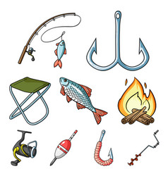 summer and winter fishing outdoor recreation vector image