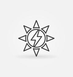 sun or solar energy icon vector image