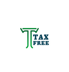 Tax free icon for shopping sale promotion design vector