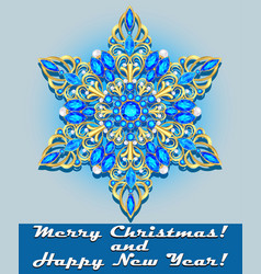 template for greeting new year and christmas card vector image