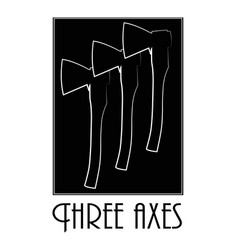 three old axes vector image