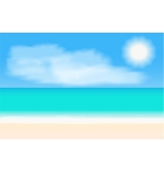 Tropical beach panorama background vector image