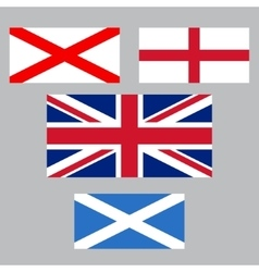 United Kingdom collection of flags vector