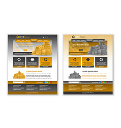 website template layouts vector image
