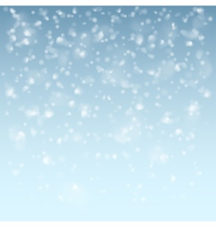 White falling flakes snow vector