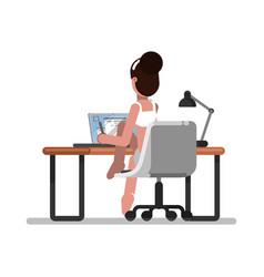 Woman freelancer designer vector