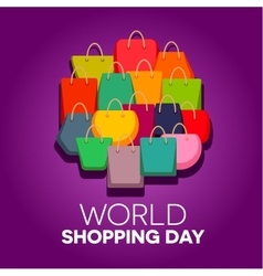 World Shopping Day vector image