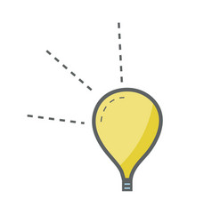 Yellow light bulb creative idea vector
