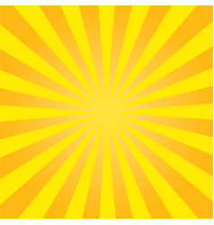 yellow sun rays radial retro background vector image