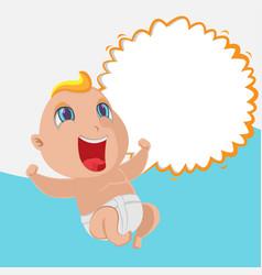 baby happy cartoon template background vector image vector image
