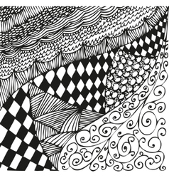 Background with doodling hand drawn patterns vector image vector image