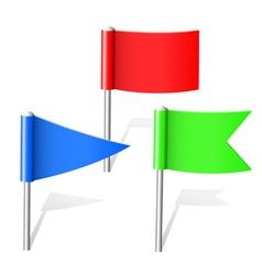 flag pins vector image vector image