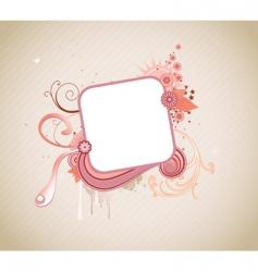funky frame vector image