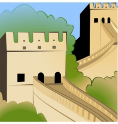 great wall of china vector image