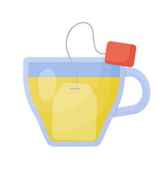 herbal tea flat icon vector image