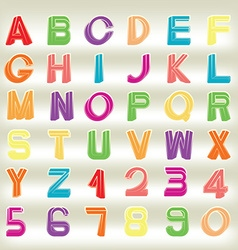 Impossible font vector image vector image
