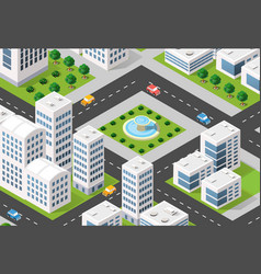 isometric 3d city urban vector image vector image