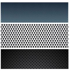 Metallic pattern set vector image