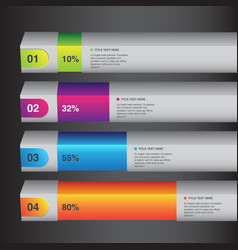 percentage info graphic white bars vector image vector image
