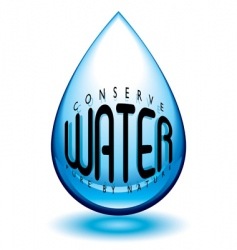 conserve water vector image
