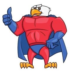 Eagle superhero thumb up gesture 2 vector image vector image