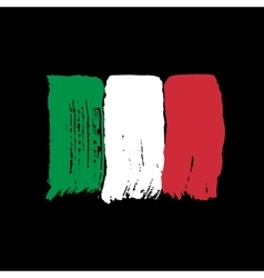 Flag of Italy on a black background vector image vector image
