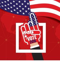 Hand Foam Vote 2016 vector image vector image
