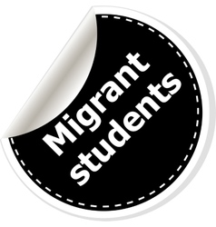 migrant students of realistic vector image vector image