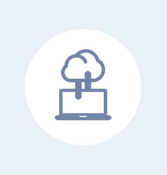 sync with cloud icon isolated on white vector image vector image