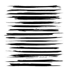 abstract thin black textured strokes big set vector image vector image
