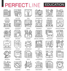 education outline mini concept symbols modern vector image vector image
