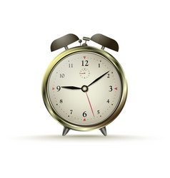 golden alarm clock vector image vector image