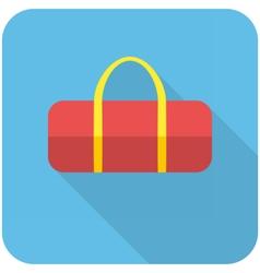 Sports bag icon vector image