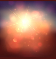 warm sun and lens flare background vector image