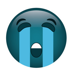 crying emoticon style icon vector image