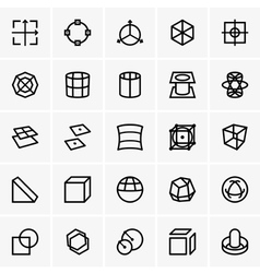 3d modelling icons vector image