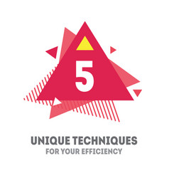 5 unique techniques for your efficiency cover vector
