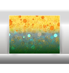 Abstract circles like bokeh effect vector image