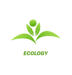 Abstract eco green logo vector