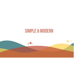 Abstract header website modern style vector