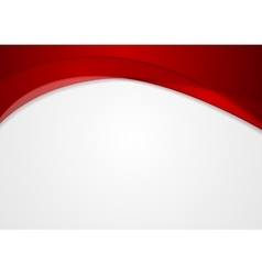 Abstract red corporate wavy background vector