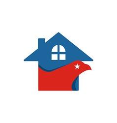 America House USA logo icon vector image