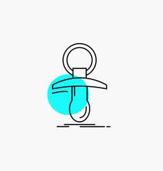 Baby dummy newbie nipple noob line icon vector