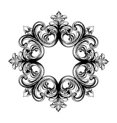 baroque vintage ornament decorative design vector image