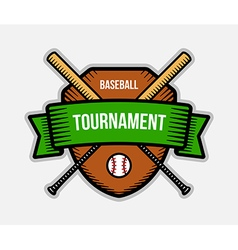 Baseball summer sport tournament logo vector image