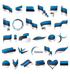 biggest collection flags estonia vector image