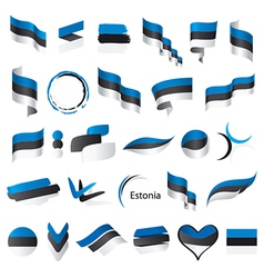 biggest collection of flags of Estonia vector image