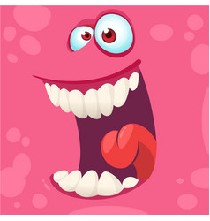 Cartoon monster face isolated vector